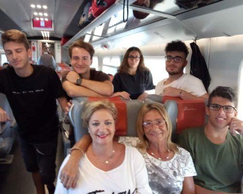 Italian Team Travelling