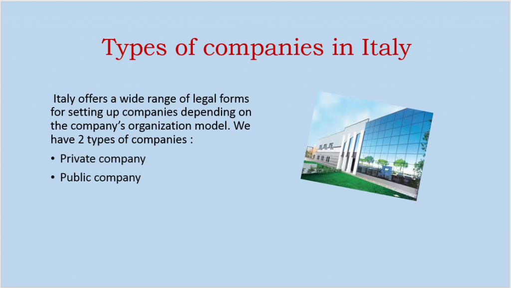 Types of companies in Italy3